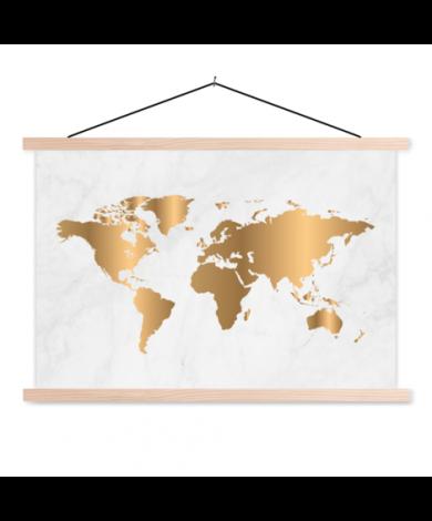 Gold Marmor Textilposter