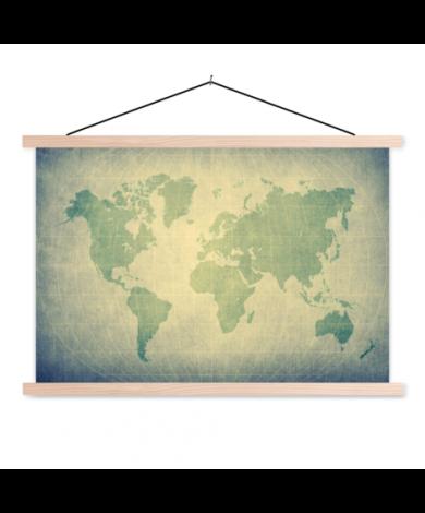 Pergament grün Textilposter