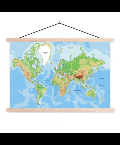 Geografisch textilposter