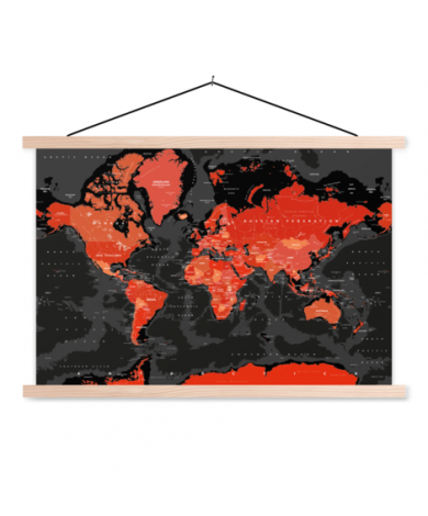 Rot - Schwarz Textilposter