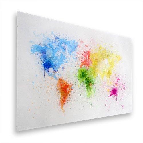 Weltkarte auf Glas