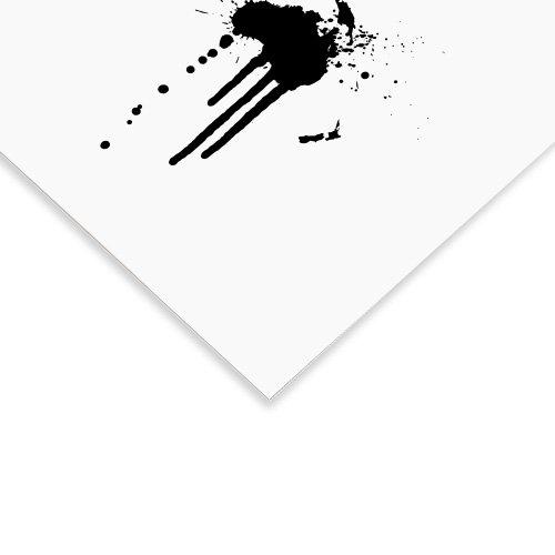 Weltkarte Poster schwarz weiss detail
