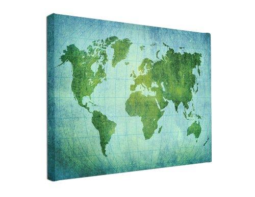 Weltkarte Auf Holz   Planken