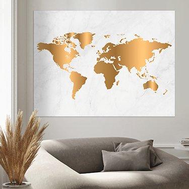 Weltkarte auf poster
