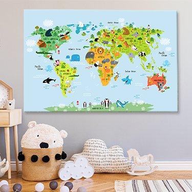 Weltkarte für kinder